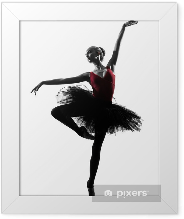 young woman ballerina ballet dancer dancing Framed Poster - Wall decals