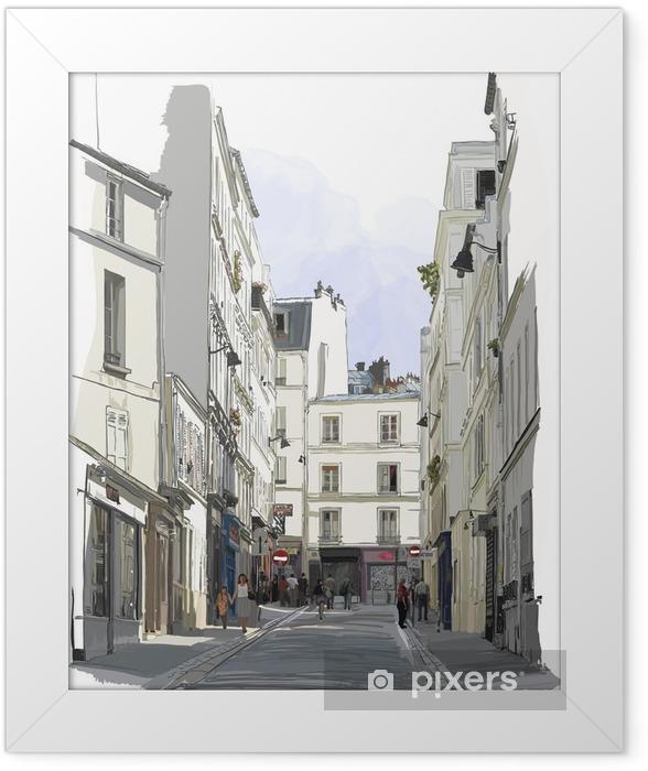 Poster en cadre Rue près de Montmartre à Paris - Bâtiments et architecture