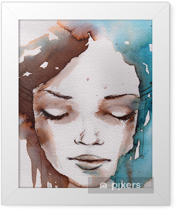Winter, cold portrait Framed Poster - Styles