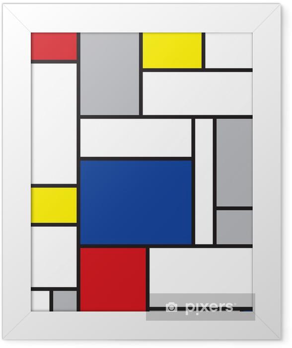 Plakat w ramie Mondrian inspirowane sztuką -