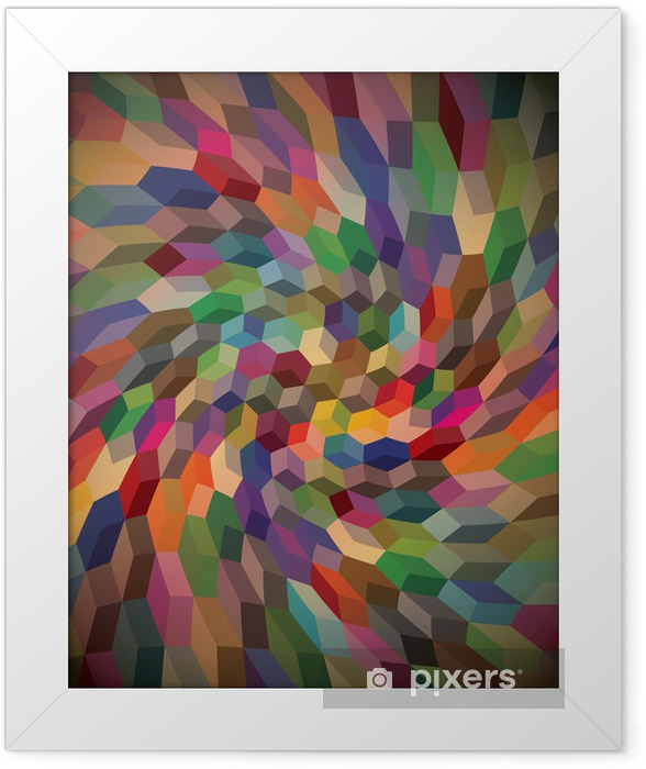 Abstract background from curly cubes, illustration Framed Poster -