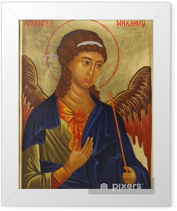 Archangel Michael icon Framed Poster - Themes