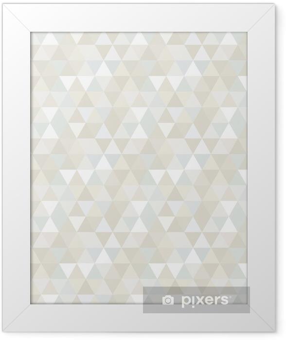 Plakat w ramie Trójkąt Wzór bez szwu, tła, tekstury -