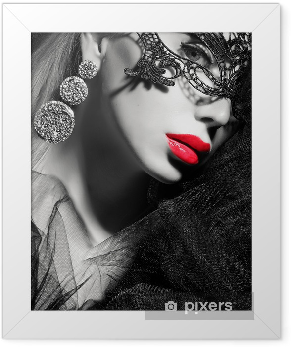 beauty face Framed Poster - Women