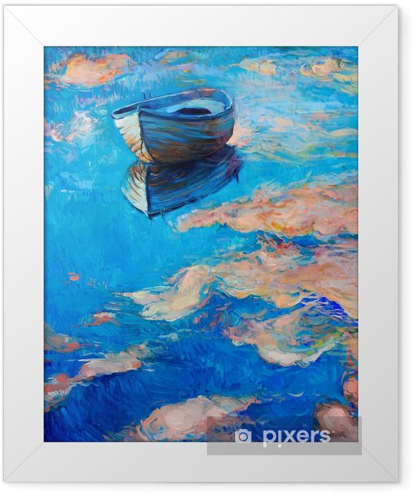 Plakat w ramie Łodzie na morzu - Tematy