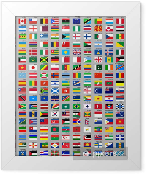 216 Flags of the world Framed Poster - Signs and Symbols