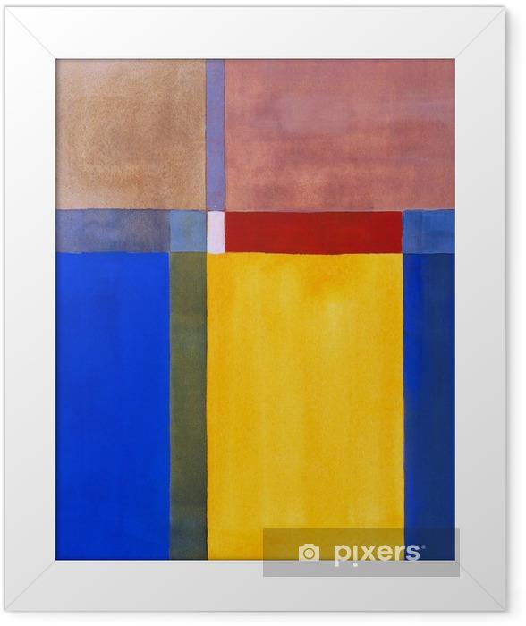 Plakat w ramie Minimalistyczny malarstwo abstrakcyjne - Nauka