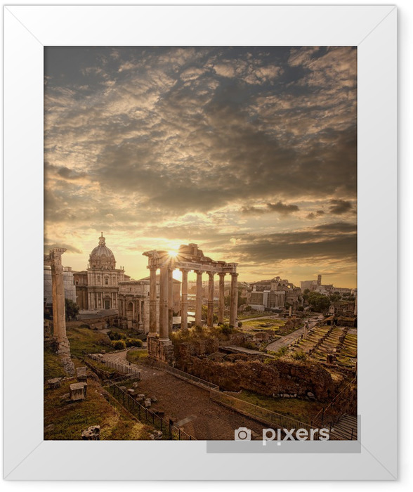 Famous Roman ruins in Rome, Capital city of Italy Framed Poster - Themes