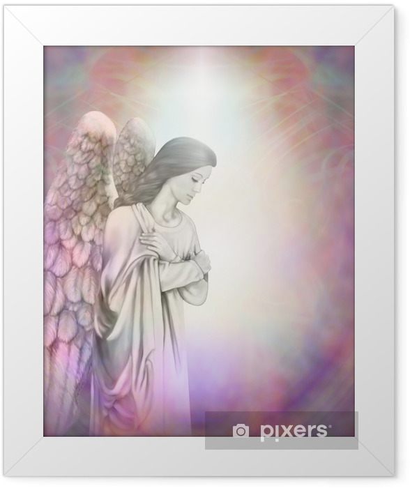 Angel in the Light Framed Poster - Themes