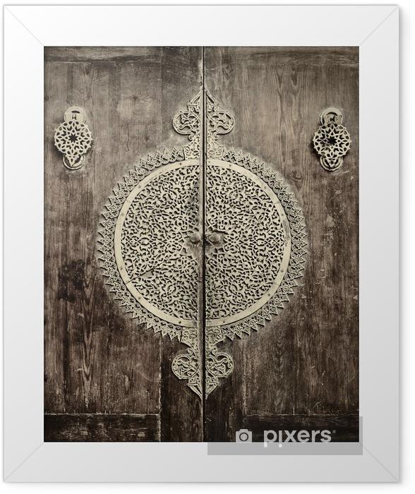 Ingelijste Poster Close-up beeld van oude deuren - iStaging