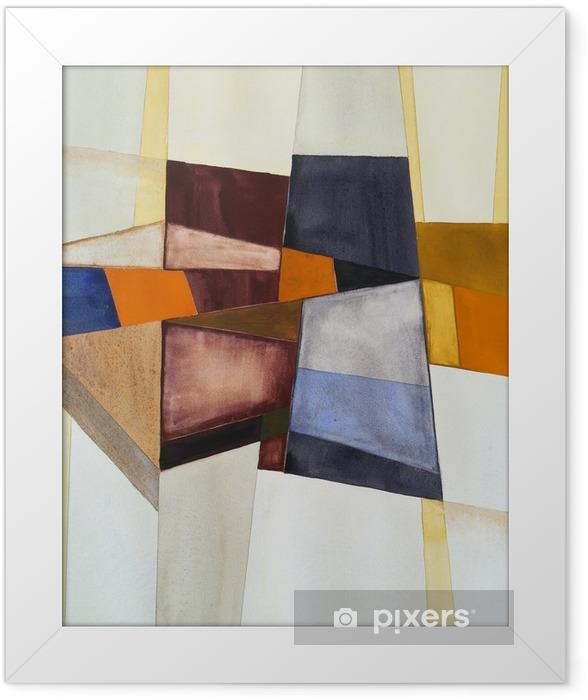 Póster Enmarcado Una acuarela abstracta modernista - Hobbies y entretenimiento