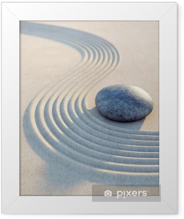 Plakat w ramie Kamieni i piasku fale w formacie pionowym - Hobby i rozrywka