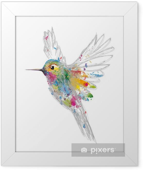 Plakat w ramie Koliber - Nauka i natura