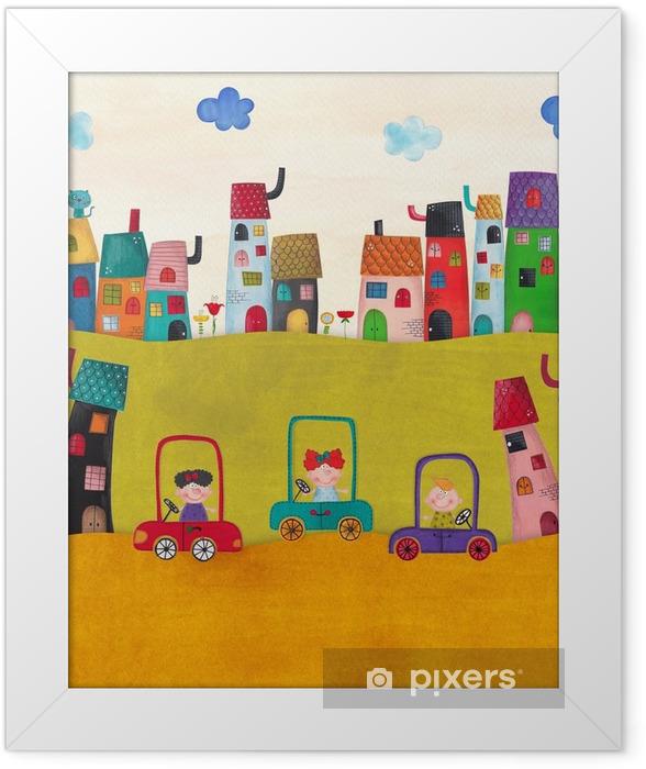 Plakat w ramie Ilustracja dla dzieci - Krajobrazy