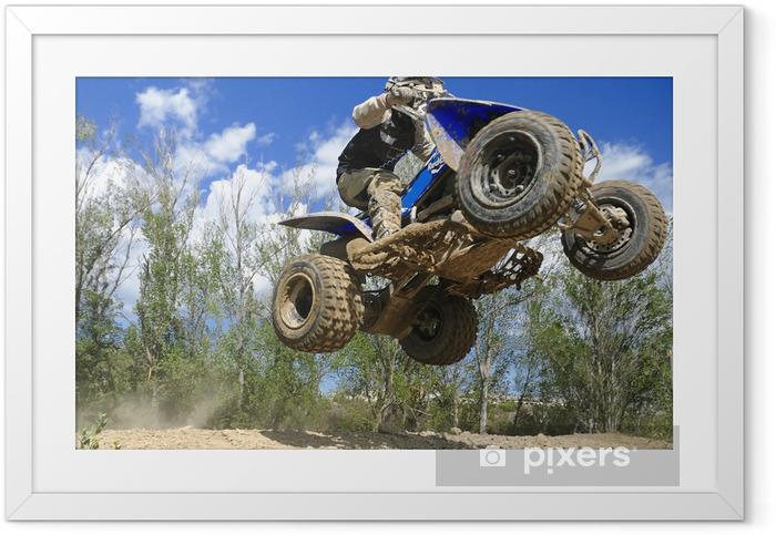 Plakat w ramie Niebieski jumping quad - Sporty ekstremalne