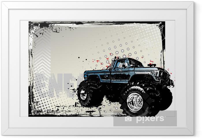 Plakat w ramie Monster truck poster - Transport drogowy