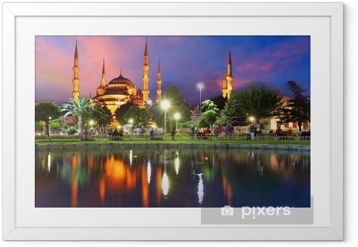 Ingelijste Poster Blauwe Moskee in Istanbul, Turkije - Thema's