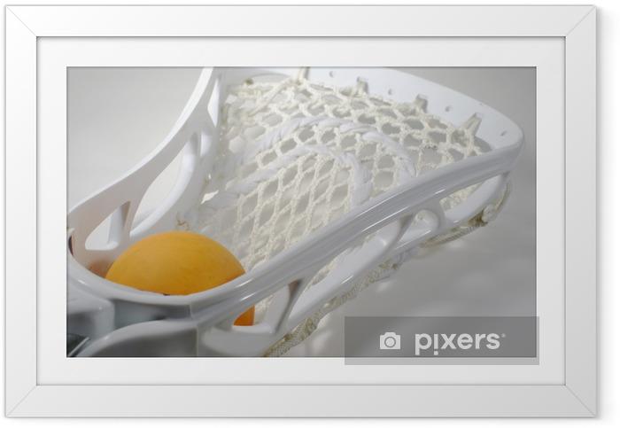 Innrammet plakat Lacrosse - Lagidrett