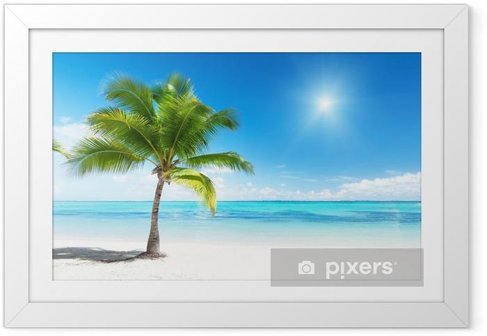 Póster Enmarcado Palma y el mar - Palmeras
