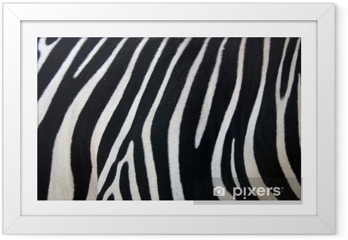Plakat w ramie Paski zebry - Style
