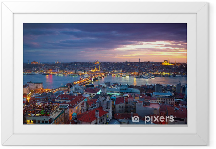 Póster Enmarcado Estambul Sunset Panorama - Temas