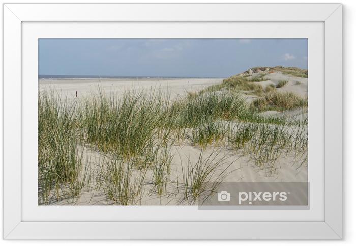 Ingelijste Poster Duinen bij de kust van Nederland - Nederland