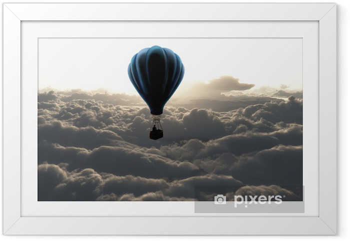 Ingelijste Poster Luchtballon boven de wolken - Stijlen