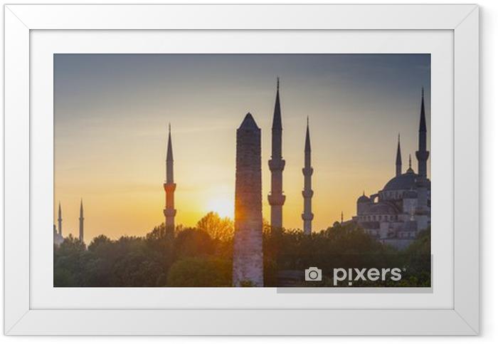 Póster Enmarcado Sultanahmet Camii / Mezquita Azul, Estambul, Turquía - Temas