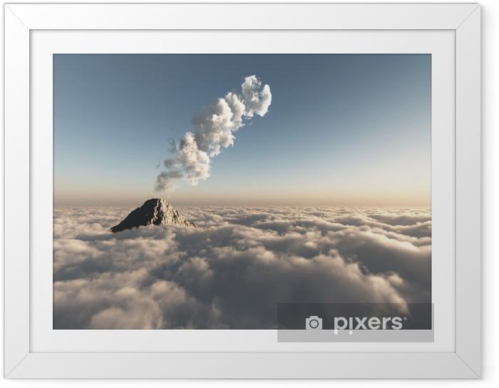 Ingelijste Poster Fantastische vlucht boven de wolken - Thema's