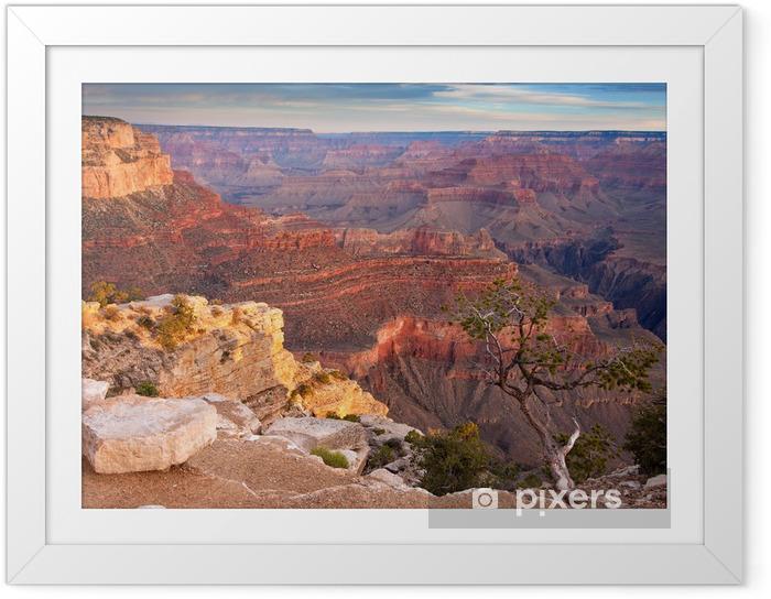 Poster i Ram Soluppgång över Grand Canyon - Amerika