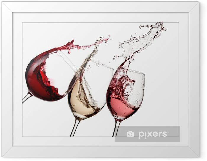 Poster en cadre Vin rouge, rose et blanc jusqu'à - Sticker mural