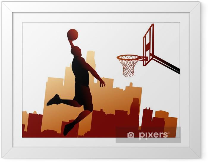 Plakat w ramie Koszykarz - Koszykówka