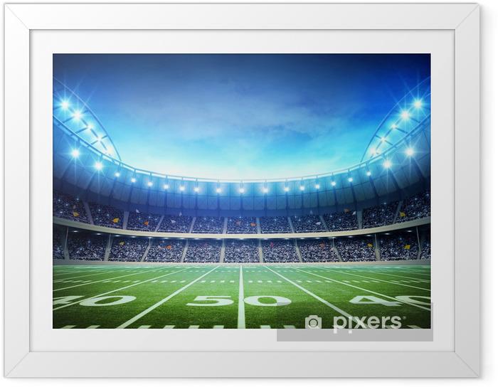 Plakat w ramie Światło amerykańskiego stadionu - Football amerykański
