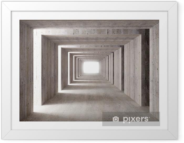 Plakat w ramie Betonu i światła boczne tunelu - Style