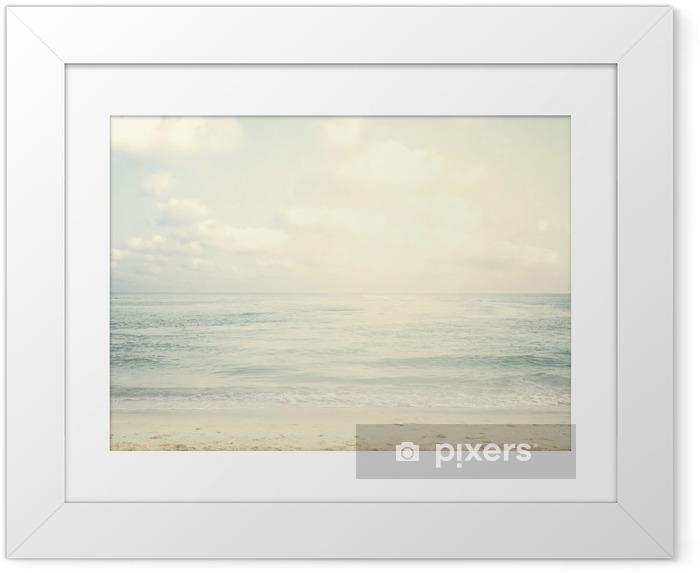 Ingelijste Poster Vintage tropisch strand in de zomer - Landschappen