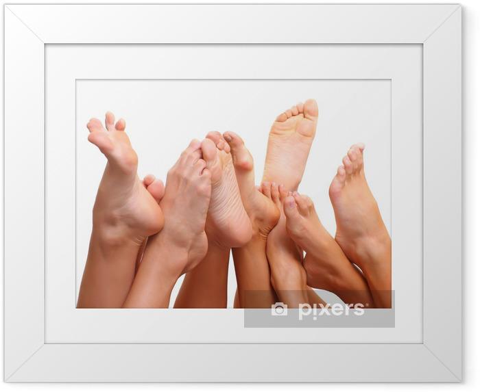 Ingelijste Poster Voeten en SPA - Schoonheid en Lichaamsverzorging