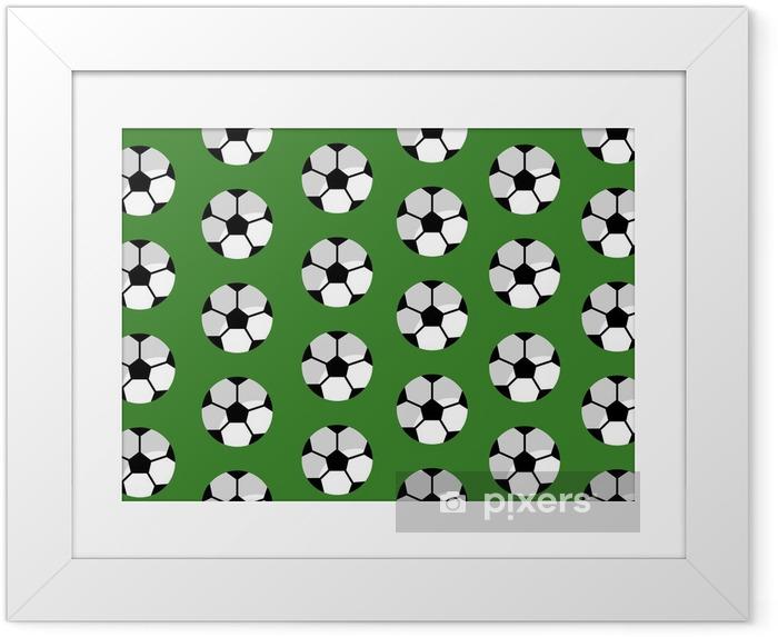 Póster Enmarcado Ilustración de vector de patrones sin fisuras fútbol club deportivo - Recursos gráficos