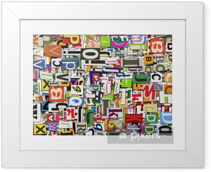 Poster en cadre Digital collage - Alphabet