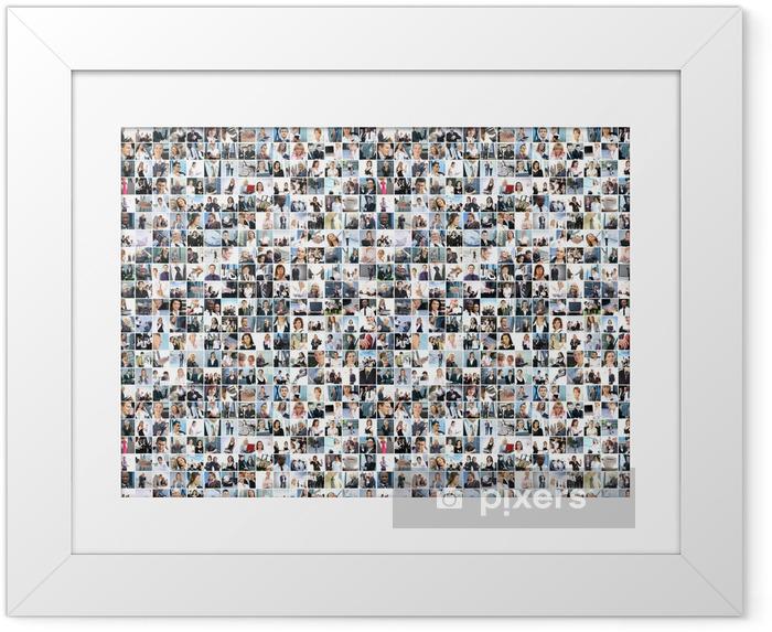 Póster Enmarcado Un collage de grandes empresas con muchas personas - Grupos y multitudes