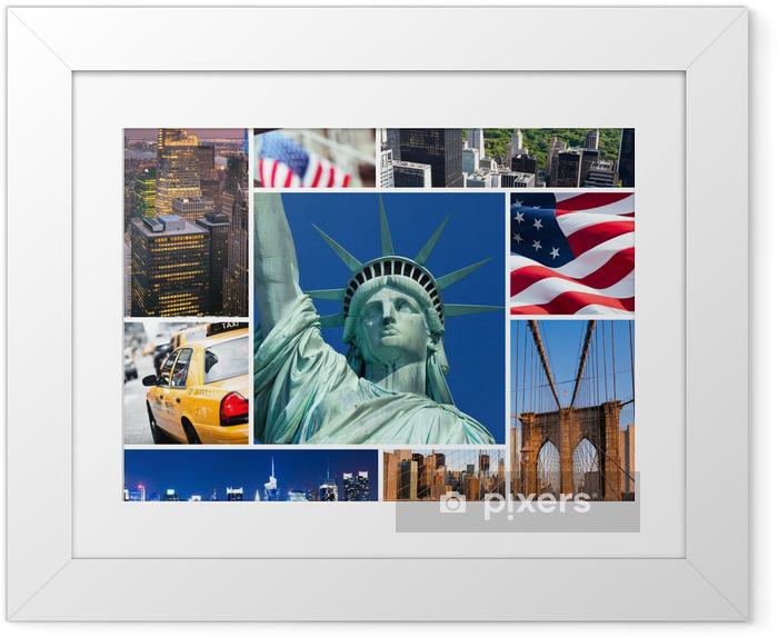 Poster i Ram New York - Amerikanska städer