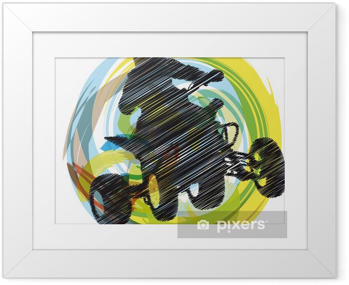 Plakat w ramie Szkic Sportsman jazda quada - Sporty ekstremalne
