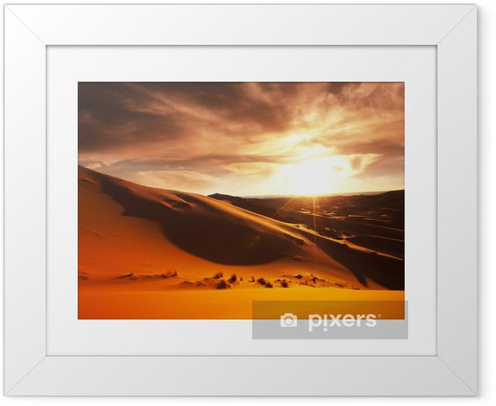Póster Enmarcado Desierto - Temas