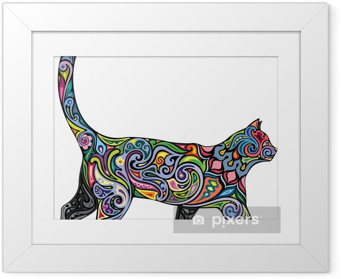 Poster en cadre Gai chat - Mammifères