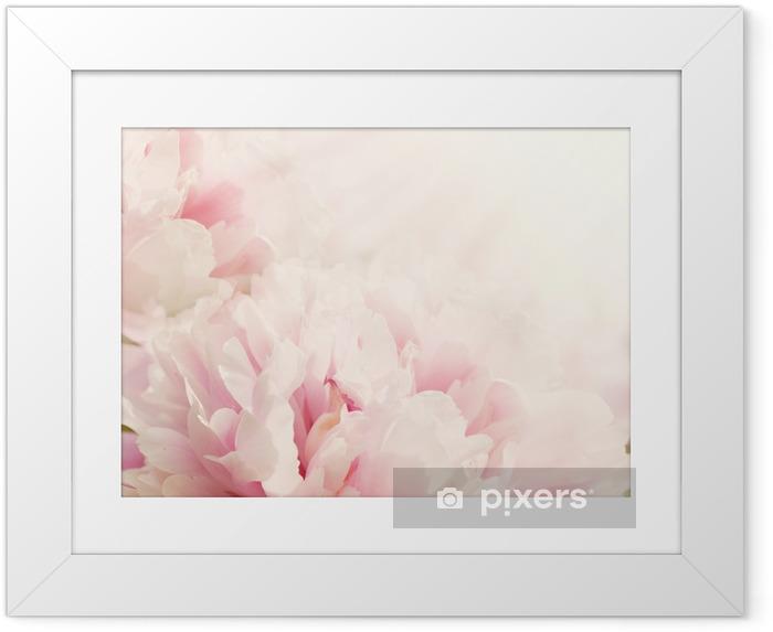 Plakat w ramie Nieostrości Zbliżenie kwiatu piwonii - Style