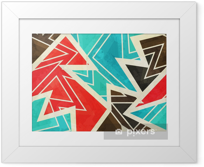 Poster i Ram Ungdom geometriskt seamless med grunge effekt - Grafiska resurser