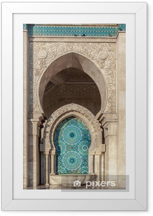 Póster Enmarcado Hassan II Mosque Casablanca Morocco - África
