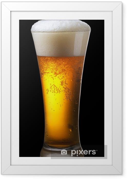 Poster en cadre Verre de bière - Alcool