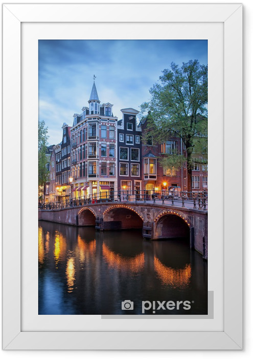 Aften i Amsterdam Indrammet plakat -