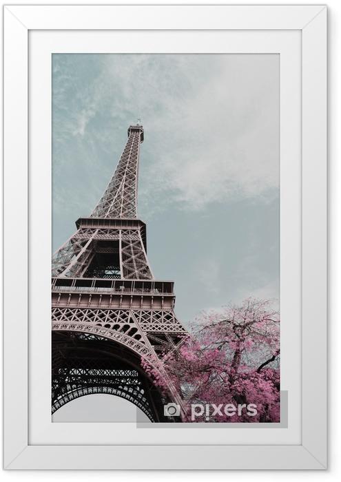 Eiffeltårnet Indrammet plakat - Rejse