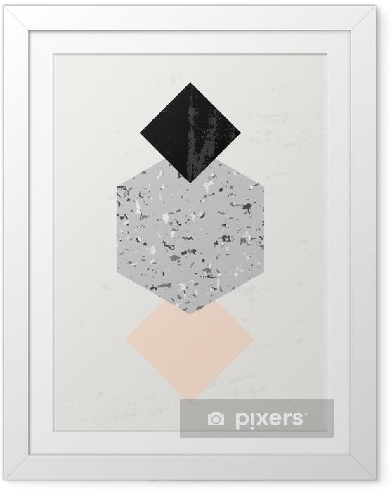 Poster in Cornice Composizione astratta geometrica. - Risorse Grafiche